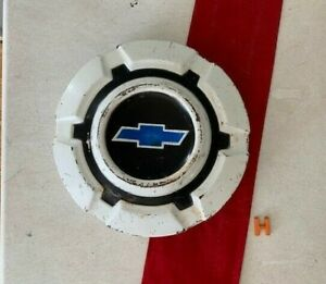 h 1 rare 1969 1972 White Blue Chevy Dog Dish Hubcap Truck Poverty