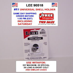 LEE 90518 * LEE UNIVERSAL SHELL HOLDER * R1 * 38 Samp;W * 38 SPECIAL * 357 MAG AUTO $9.49