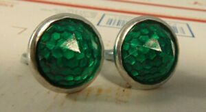 Nos Vintage Green Reflector Pair For License Plate Ford Chevy Dodge Bicycle L K