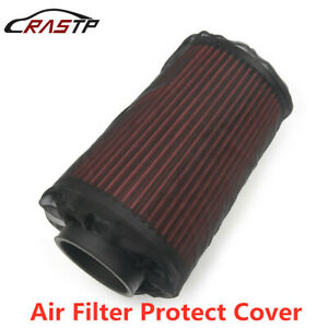 Black Auto Air Filter Protect Cover Dust Cloth For High Flow Air Intake Filter