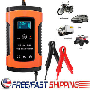 12v Car Battery Charger Maintainer Auto Trickle Rv For Truck Motorcycle Atv Us