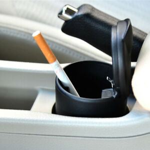 Portable Travel Car Cigarette Cylinder Ashtray Fits Cup Holder With Led Light