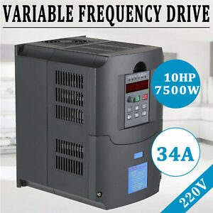 7 5kw 10hp Vfd Single Phaseto 3 Phase Variable Frequency Drive Inverter 220v