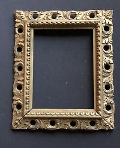 Rare Vintage Carved Wood Antique Picture Frame Gold Print Art Lots Listed