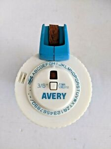 Vintage Avery Turquoise 3 8 Label Maker 3r