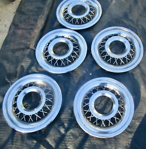 1955 1957 Ford Thunderbird T Bird Oem Wires Wheel Covers Hub Caps 55 56 57