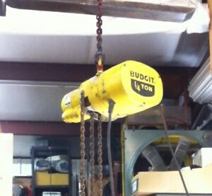 Budgit 1 4 Ton 500lbs Electric Chain Hoist 115v Single Phase