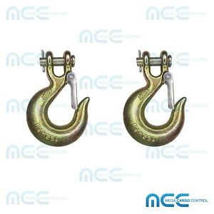 2 Pack 5 16 G70 Clevis Slip Hook Flatbed Truck Trailer Tie Down Tow Chain Hook