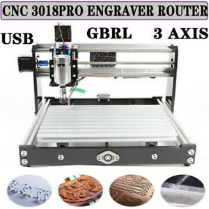 3 Axis Cnc Router Kit 3018 Engraver Pvc 6061 Profiles Milling Machine 12w Hot Us