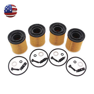 4x Oil Filter Pack W seals 26350 2m000 Fit For Kia Rio 1 6l Engine 2019 2020