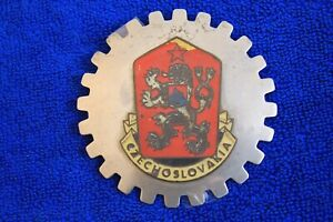 Vintage Czechoslovakia Grille Badge License Plate Topper Accessory Fit Bmw Audi