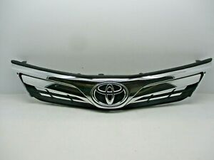 2012 2013 2014 Toyota Camry Upper Grille Grill With Chrome Emblem Aftermarket