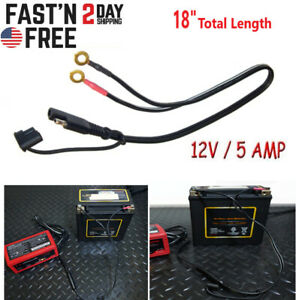 Battery Power Cord Cable Tender Harness Wire Extension Kit Sae Ring Connector Uv