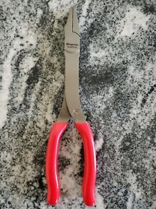 Snap on 9 Duckbill Needle Nose Pliers 609cf Red Handle