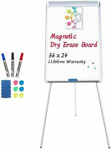 Easel Whiteboard Magnetic Portable Dry Erase Easel Board 36 X 24 Inches