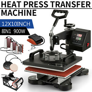 8 In 1 Combo Heat Press Machine Digital Transfer Sublimation T shirt Mug Hat
