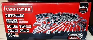 Craftsman Mechanic s Tool Set Sae metric Gunmetal Chrome Set 282pc Local Pickup