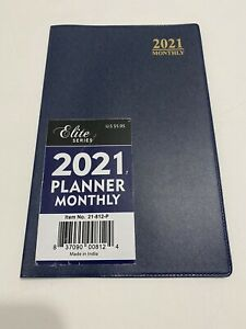2021 Elite Monthly Planner Calendar Appointment Book Organizer 5x8 Dark Blue
