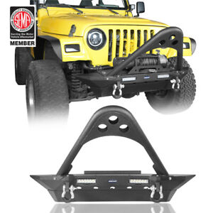 Stinger Front Bumper W Winch Plate Lights For Jeep Wrangler Yj Tj 1987 2006