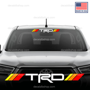 Trd Decal Windshield Sticker Vinyl Fits Toyota Tacoma Tundra Car Truck Graphic D
