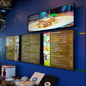 A2 Led Illuminated Poster Frame Restaurant Sign Menu Board 17 x 24