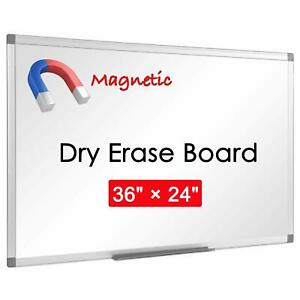 Large Magnetic White Board For Wall Aluminum Alloy Frame 36 X 24 1 Pack