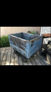 Antique Industrial Factory Cart Blue Paint Great For Kitchen Island Diy 33 27 39