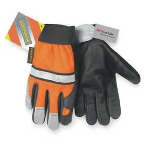 Mcr Safety 921s Leather Gloves s high Visibility Orange pr