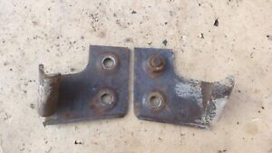 1937 1940 Chevy Truck Front Hood Hooks Original Gm Pair On Grille Shroud Shell