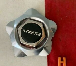 H 1 Rare Chrysler Center Cap Hub Red Hexagon Dream Cruiser Chrome 8530 4