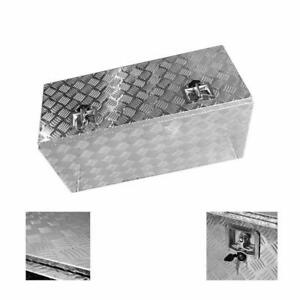 36 Aluminum Truck Pickup Flatbed Storage Tool Box Trailer With Tongue Lock Us