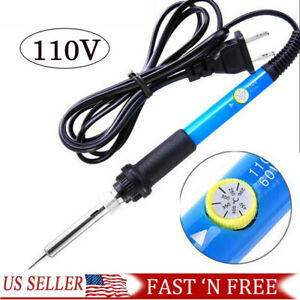 Electric Soldering Iron Gun Adjustable Temperature Welding Tool 110v 60w Usa