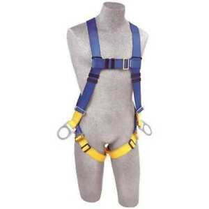 3m Protecta Ab17540 Full Body Harness Vest Style Xl Polyester Blue