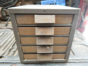 Vintage Kennedy Parts Cabinet From A Machine Shop Plastic Drawer Version