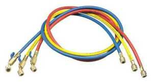 Yellow Jacket 29983 Manifold Hose Set 36 In Red Yellow Blue Angle 45