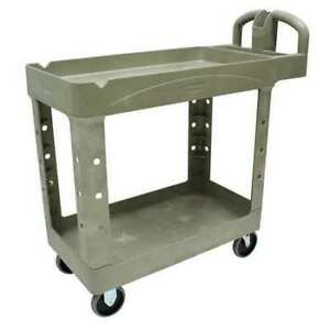 Rubbermaid Fg450088beig Structural Foam Utility Cart With Deep Lipped Plastic