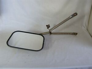 Vintage 1960 70 s Chrome Truck Side View Towing 7 5 X 10 5 In Mirror W Bracket
