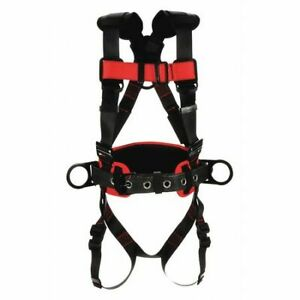 Protecta 1161306 Full Body Harness Vest Style M Polyester Black