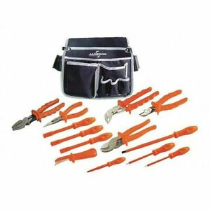 Jameson itl 00004 1000v Insulated Electrician s Pouch Tool Kit 13 piece