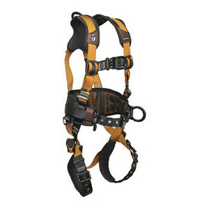Falltech G7081bfdm Full Body Harness Vest Style M Polyester Brown