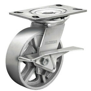 Albion 62ca05201scb62 5 X 2 Cast Iron Swivel Caster Cam Brake Loads Up To