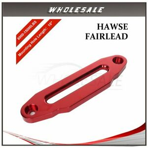 For 8000lbs 15000lbs Synthetic Winch 10 Red Hawse Fairlead