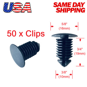 Set Of 50 Rocker Moulding Trim Panel Push Pin Retainer Clips For Ford Truck