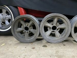 Vtg American Racing Magnesium Torque Thrust 5 Spoke Wheels Gasser Shelby Hemi