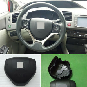 Black Abs Car Steering Wheel Horn Cover W emblem Replace For Honda Civic 2013 15