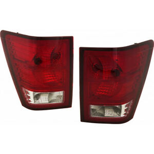 Fits 2007 2010 Jeep Grand Cherokee Tail Light Driver Passenger Pair Dot W Bulbs