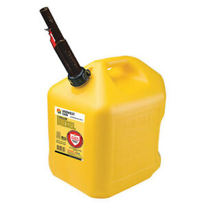 Flame Shield 8610 Diesel Fuel Can 5 Gal self yellow hdpe