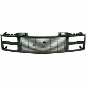 Grille For 88 99 Gmc K1500 C1500 Black Plastic