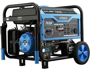 Pulsar Dual Fuel Gas Propane Generator Electric Start Portable 8000 10000 Watt