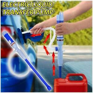 Electric Siphon Water Pump Liquid Transfer Gas Oil Fish Tank Battery Operated 02